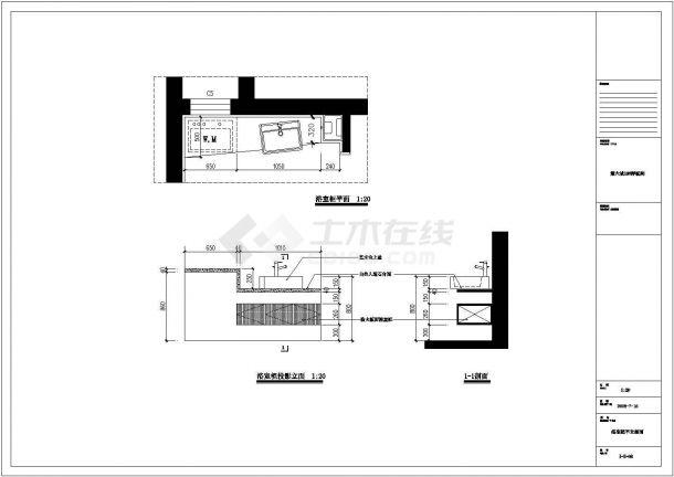 现代欧式风格住宅楼全套施工cad图(附实景照片)-图一