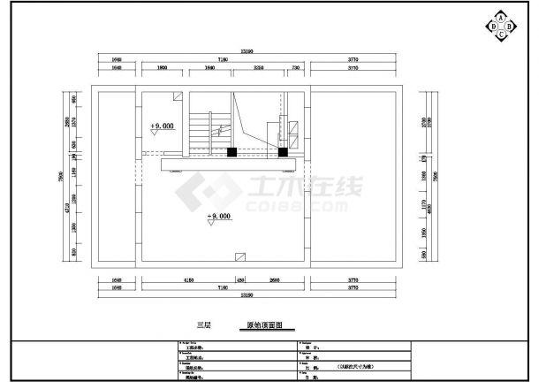 某小区二楼现代欧式样板房全套施工设计cad图-图二