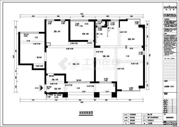 金域榕郡精品样板房全套施工设计cad图纸(含效果图)-图一