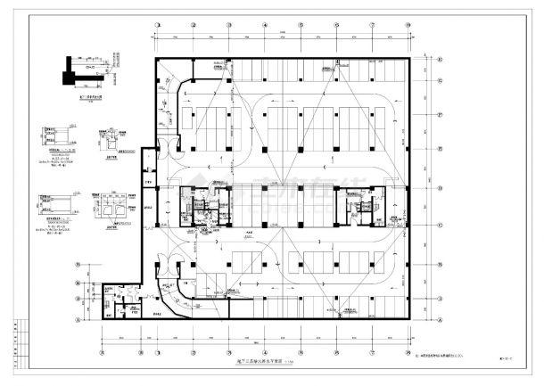 某办公楼给排水设计施工CAD图纸-图一