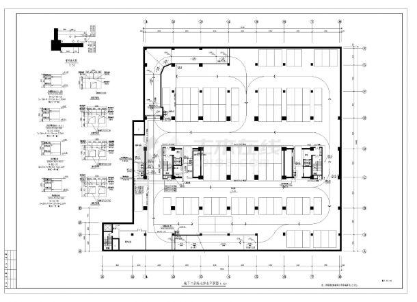 某办公楼给排水设计施工CAD图纸-图二