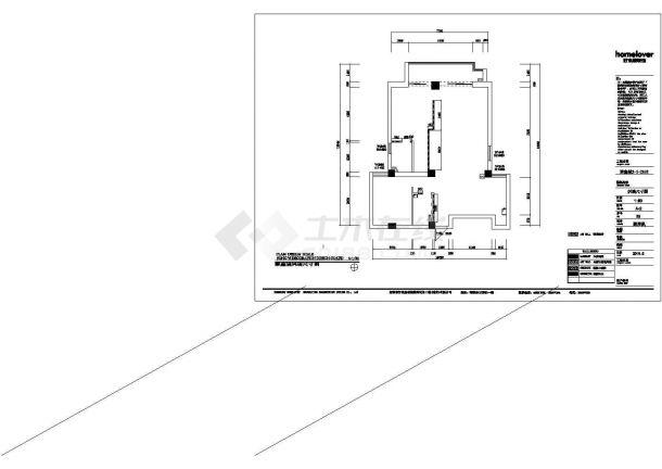 聚鑫城高档样板房全套施工设计cad图纸(含效果图)-图二