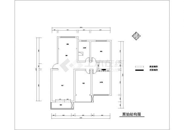 现代红色调风格住宅楼施工全套设计cad图-图二