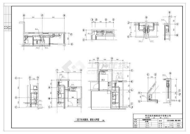 某十八层住宅楼给排水设计CAD图纸-图一