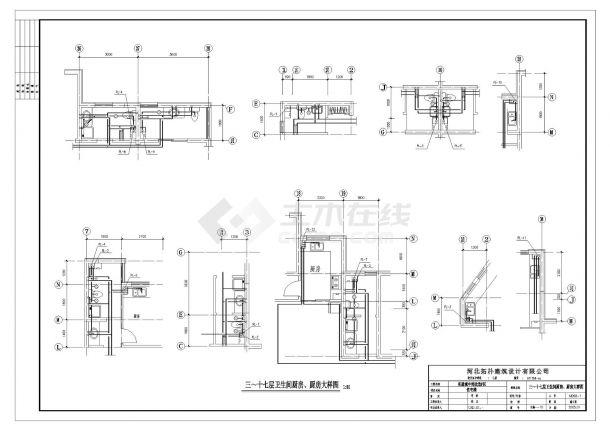某十八层住宅楼给排水设计CAD图纸-图二