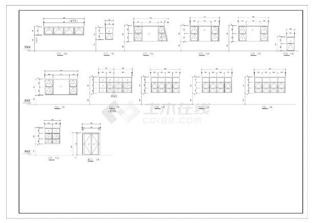 某办公大楼设计施工CAD图纸-图一