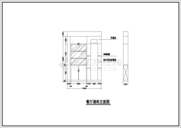 某地一套高档住宅楼房建筑施工图纸-图二