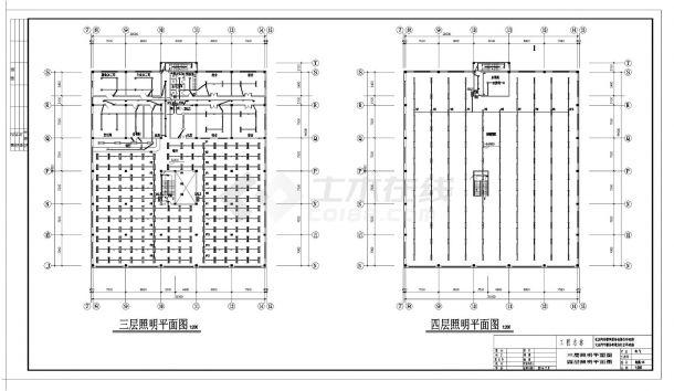 某汽车4S店照明设计施工CAD图纸-图二