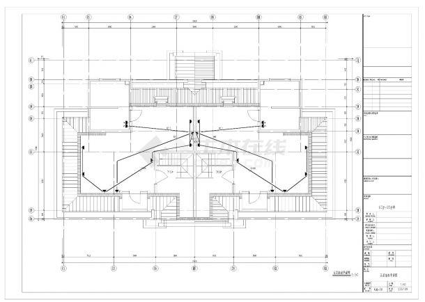 某四层叠加别墅电气照明施工CAD图纸-图一