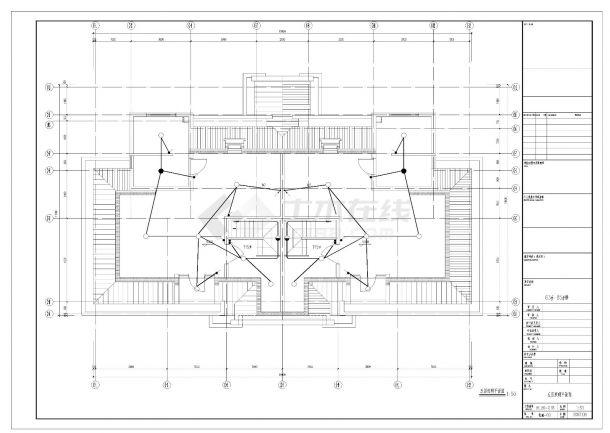 某四层叠加别墅电气照明施工CAD图纸-图二