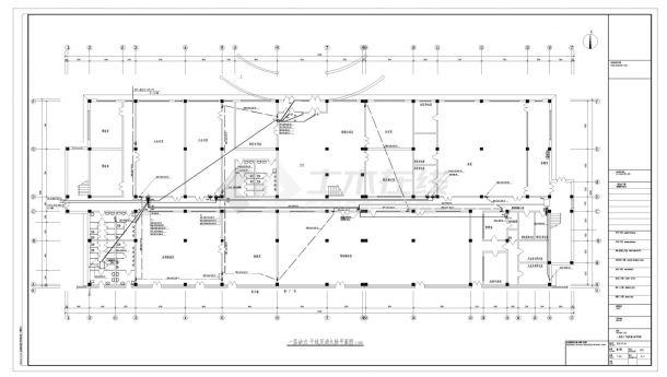 长春市某厂房电气照明详细施工CAD图-图一