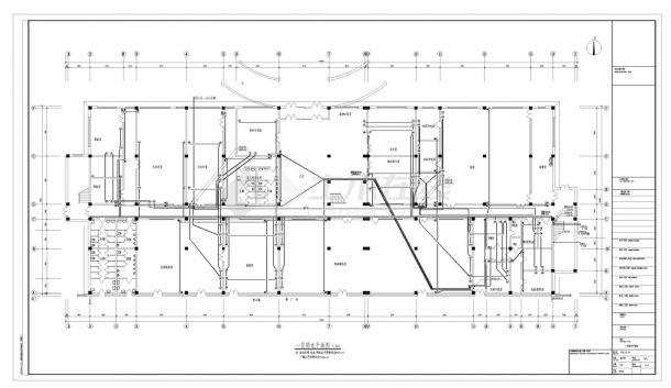 长春市某厂房电气照明详细施工CAD图-图二
