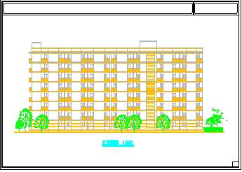 某中学学生公寓建筑方案cad设计图-图二