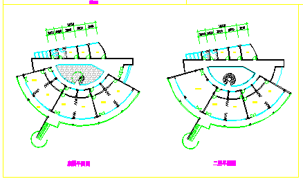 幼儿园平立剖面建筑设计cad施工图-图一