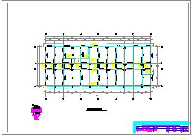 7层 公寓全套cad设计(6000~6500平,含计算书,建筑图,结构图,施工组织设计,施工平面布置图)-图二