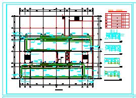 宾馆整套空调管线设计施工cad平面图纸-图一