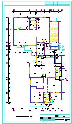 长29.4米 宽26米 -2+30层(1梯4户)住宅楼水施设计【给排水消防平面图系统图 厨卫水暖表间大样 水箱泵房工艺安装图 集水坑平剖 17个CAD】-图二