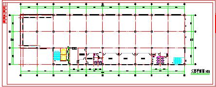 长80米 宽24米 3层厂房建筑方案cad设计图纸-图二