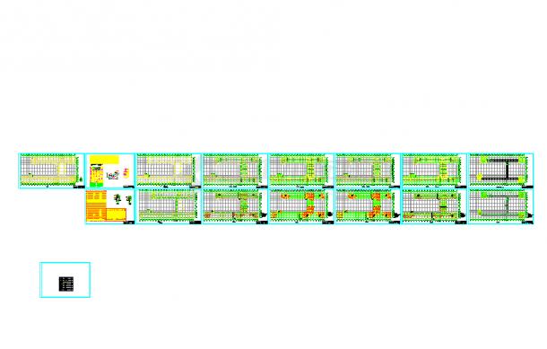 五套cad常用教学楼结构施工cad图纸-图一