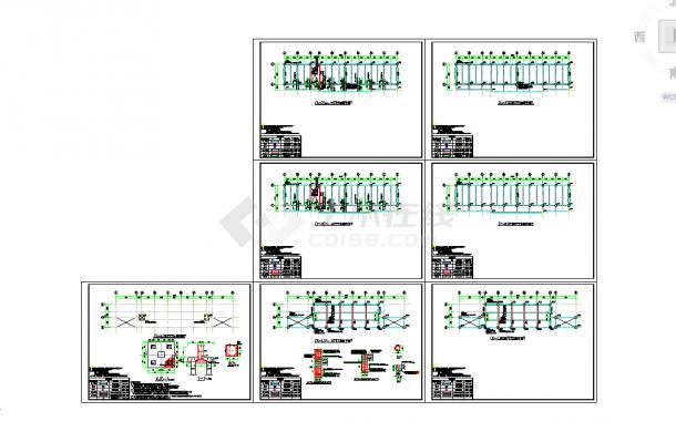 五套cad常用教学楼结构施工cad图纸-图二