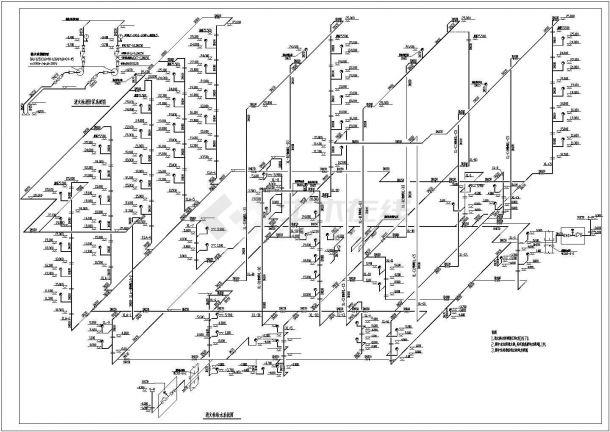 【溧阳】某地新型商场给排水和消防全套施工设计图-图二