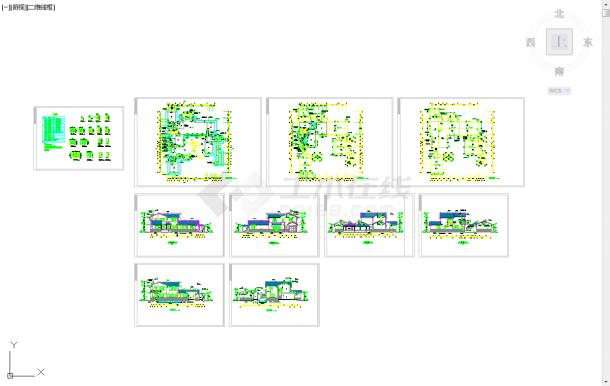 五套四合院常用cad排水施工图纸-图二