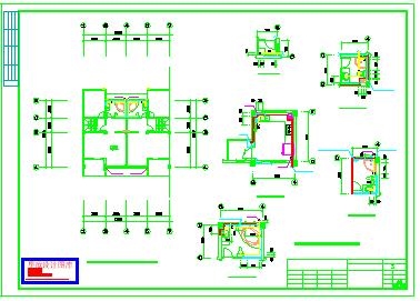 某3层别墅给排水cad设计图纸-图一