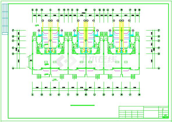 某3层别墅给排水cad设计图纸-图二
