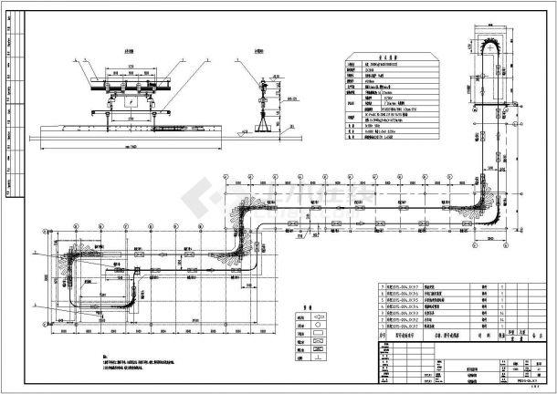 重卡总装车间车架输送线详细cad布置图-图一