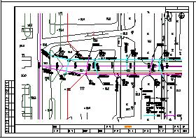 [安徽]1.4公里城市I级市政道路排水平面cad设计图纸-图二