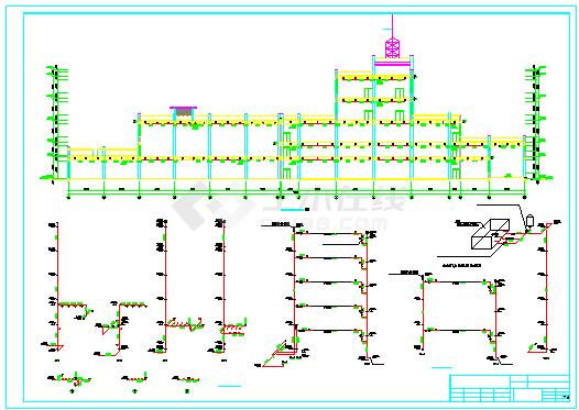 厂房车间给排水及消防施工cad图纸(雨水系统)-图二