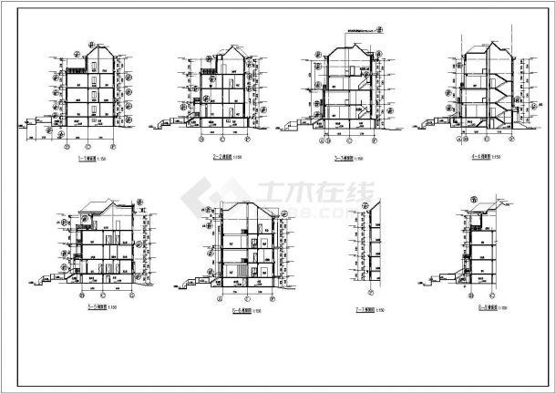 农村住宅别墅建筑设计施工图-图一