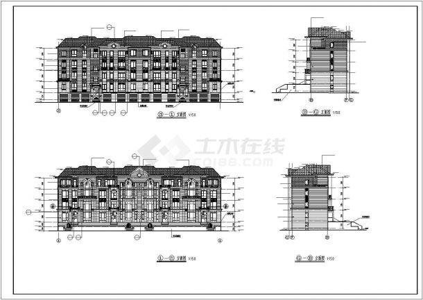 农村住宅别墅建筑设计施工图-图二