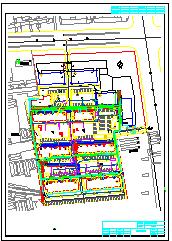 某小区外网给排水消防综合管道cad设计图纸-图一