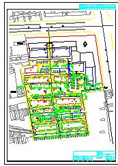 某小区外网给排水消防综合管道cad设计图纸-图二