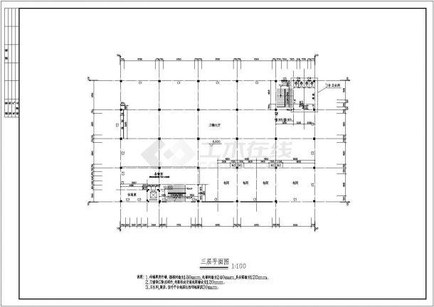 苏州3层饭店全套建筑方案设计图纸【平立剖 门窗卫生间大样】-图一