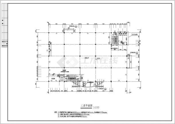 苏州3层饭店全套建筑方案设计图纸【平立剖 门窗卫生间大样】-图二