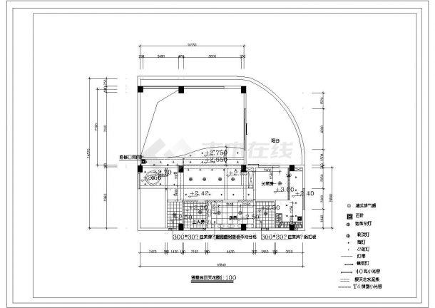 3层:长15.84米 宽14.57米 现代风格别墅装修施工图-图一