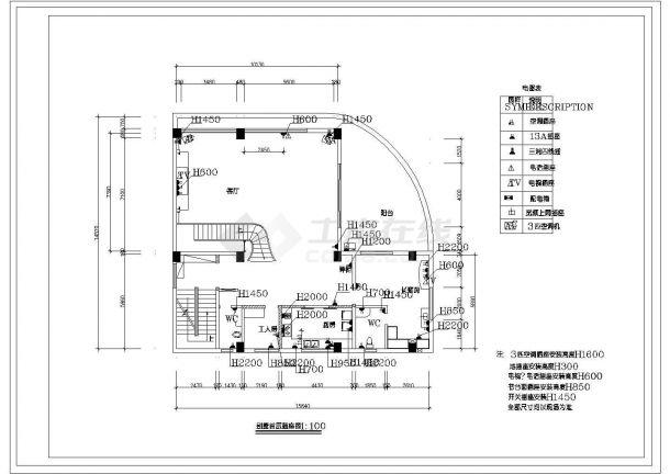 3层:长15.84米 宽14.57米 现代风格别墅装修施工图-图二