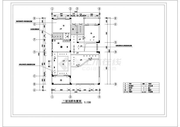 3层:长17.64米 宽12.02米 别墅样板间建筑设计施工图-图一