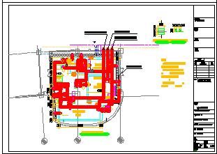 [上海]中水处理站建筑给排水cad设计图-图一