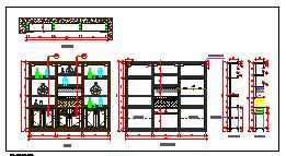30款实木酒柜设计CAD图库-图一