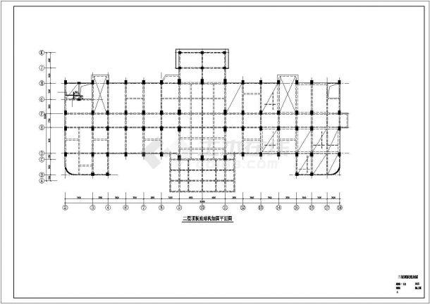 医院门诊楼综合楼加固改造结构施工CAD图-图二