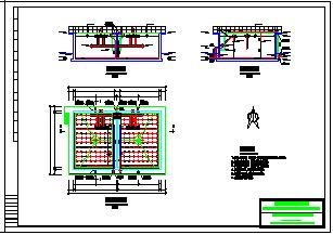 生活污水SBR反应池800吨工艺设计cad图纸-图二