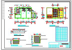 药厂废水处理全套cad设计施工图纸-图一