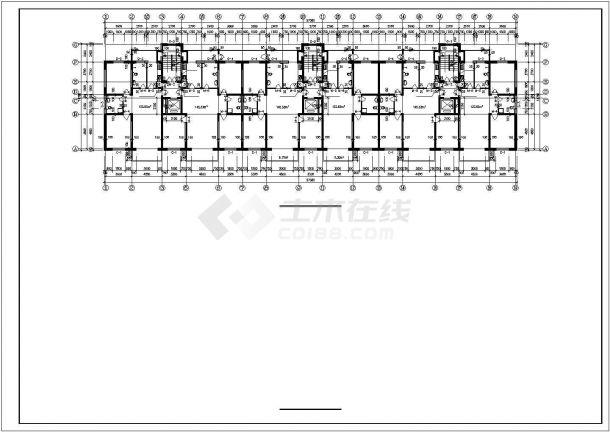 秦皇岛市建设路某居住区14层框架结构住宅楼全套建筑设计CAD图纸-图一