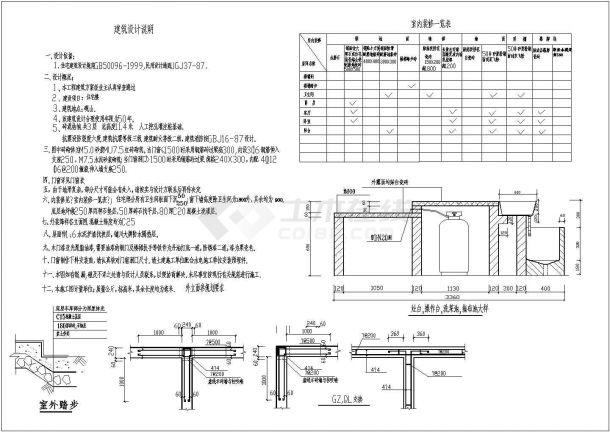 某三层砖混结构私人住宅楼设计cad全套建施图(含结构设计,含设计说明)-图二
