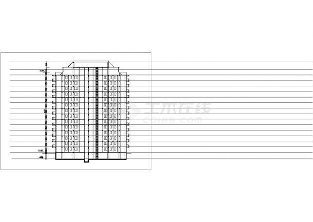 兰州市西河路某小区14层框架结构住宅楼平立面设计CAD图纸(含阁楼)-图一