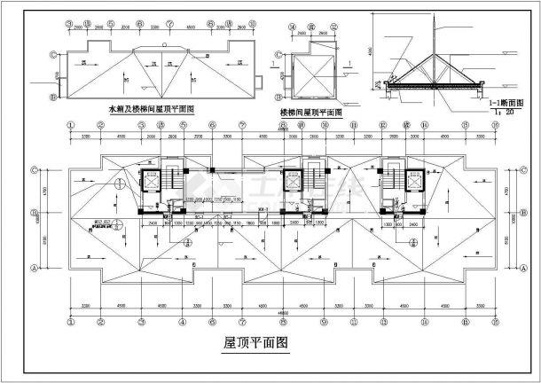 北京市丰台区某居住区14层框架结构住宅楼全套建筑设计CAD图纸-图一