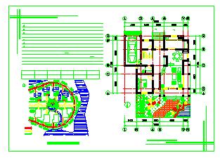 某村镇别墅建筑设计施工图-图一